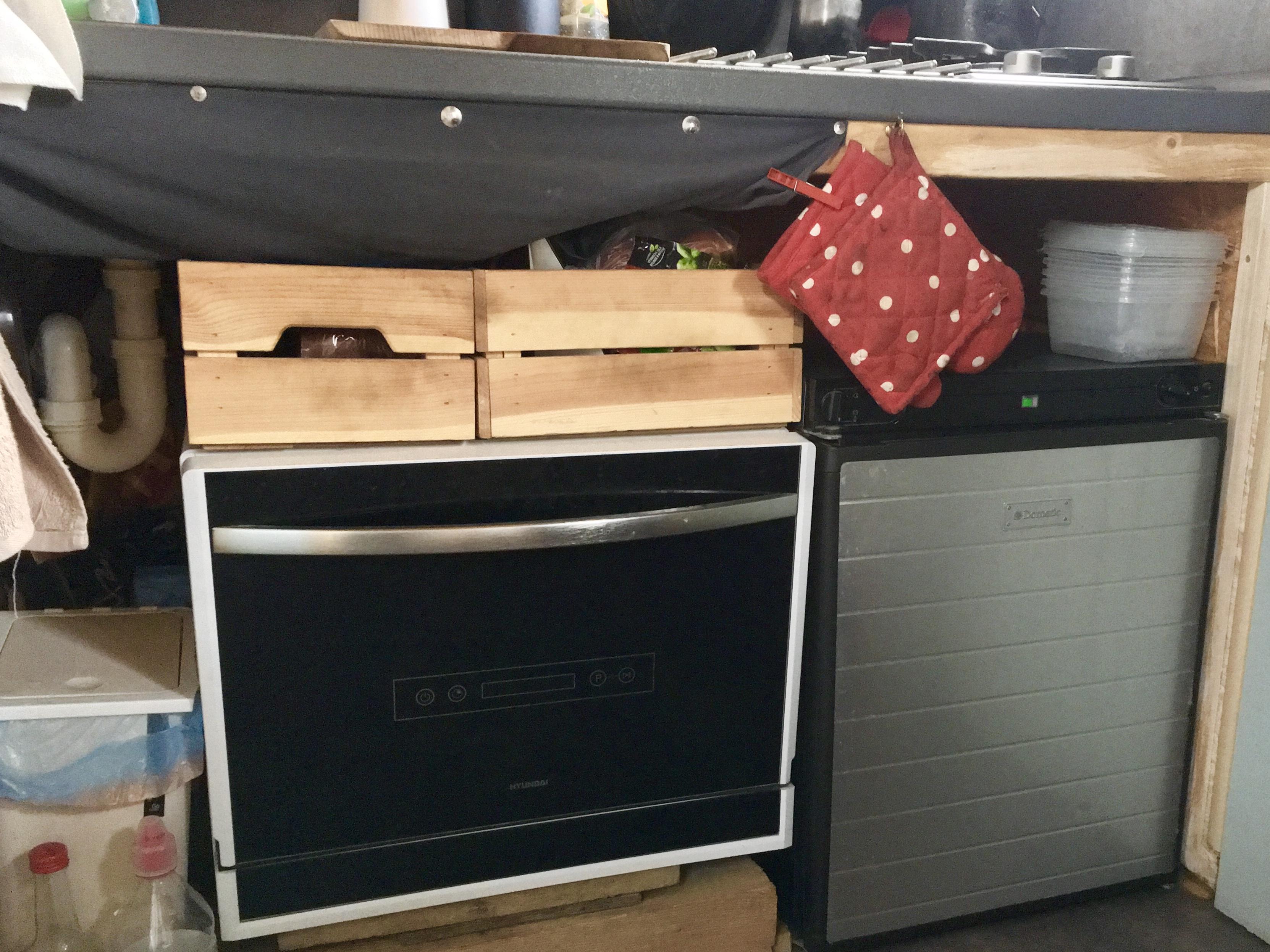 dishwasher, fridge
